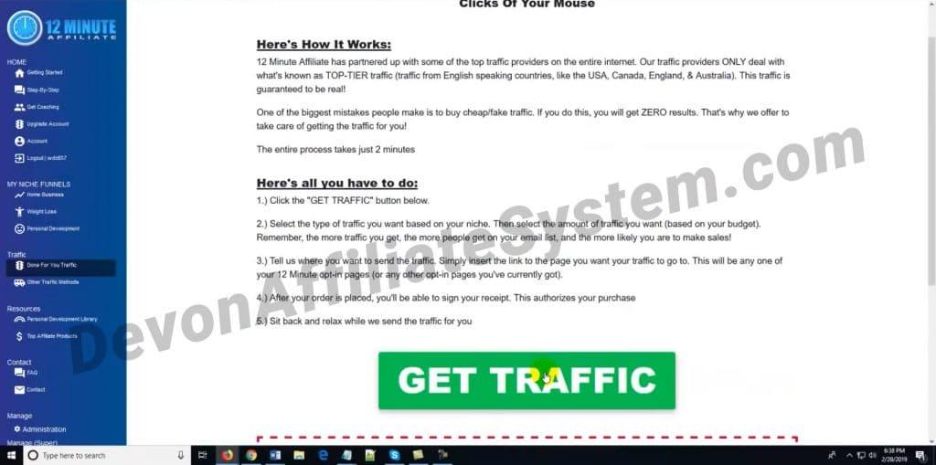 Get Traffic step
